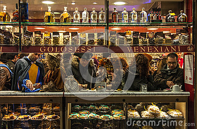 Venetian Cafe Editorial Stock Image
