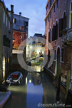 Venetian canal Editorial Photo