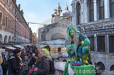 Venetian carnival-2013 Editorial Stock Photo