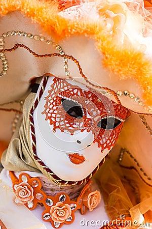 Venetian Carnival Mask Editorial Stock Photo