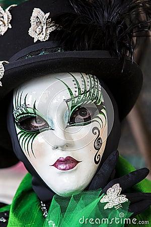 Venetian Carnival Mask Editorial Stock Image
