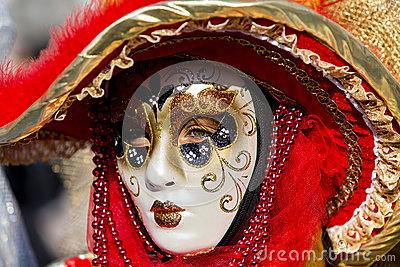 Venetian Carnival Mask Editorial Photography