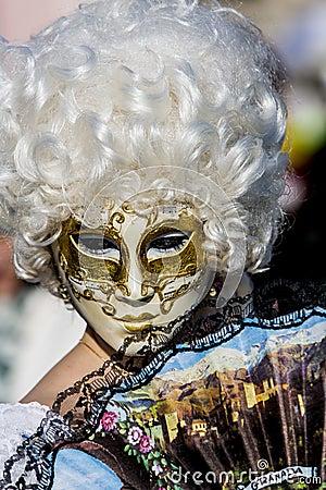 Venetian Carnival Mask Editorial Photo