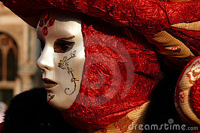 Venetian Carnival Mask detail Editorial Photography