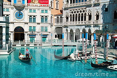 Venetian Casino Hotel Resort on the Las Vegas Strip Editorial Stock Image