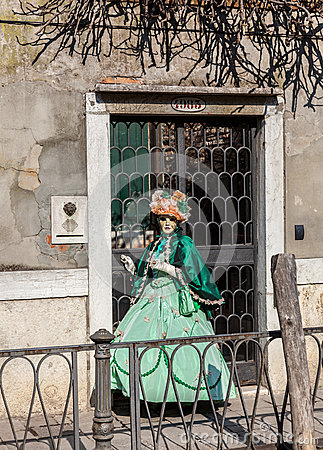 Venetian Costume Editorial Photo
