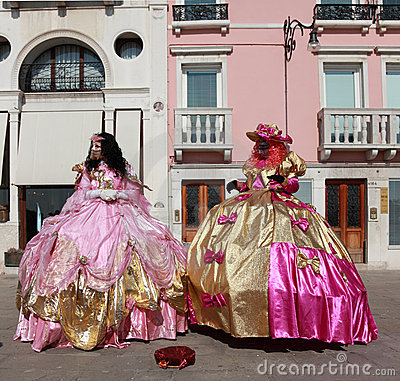 Venetian costumes Editorial Photography