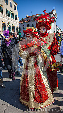Venetian Costumes Editorial Stock Image