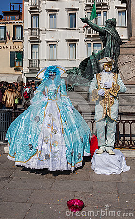 Venetian Costumes Editorial Photo