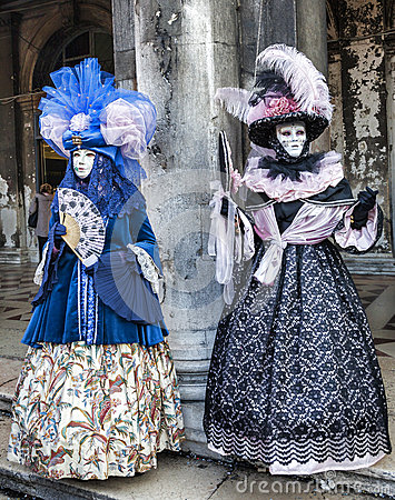 Venetian Costumes Editorial Photography