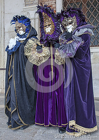 Venetian Costumes Editorial Image