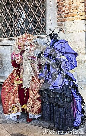 Venetian Costumes Scene Editorial Stock Photo