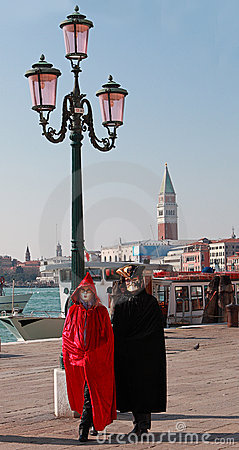 Venetian couple Editorial Stock Photo