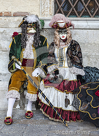 Venetian Couple Editorial Stock Image