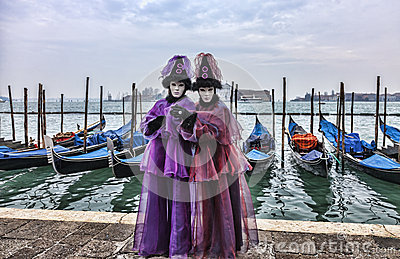 Venetian Couple Editorial Photography