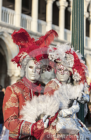Venetian Couple Editorial Image