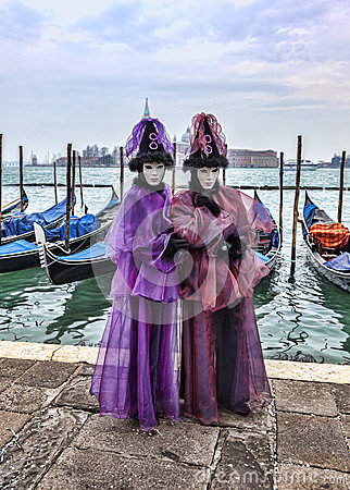 Venetian Couple Editorial Stock Image