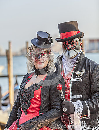 Venetian Couple Editorial Photography