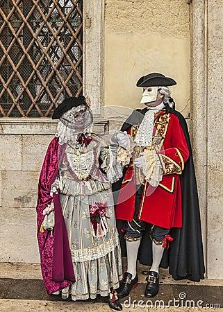 Venetian Couple Editorial Image