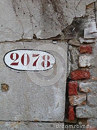 Venetian details - numbers