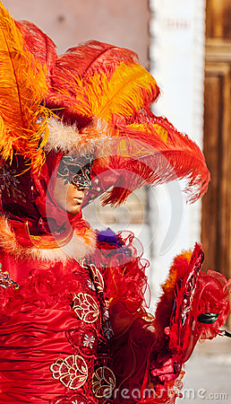 Venetian Disguise Editorial Stock Image