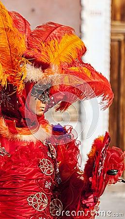 Venetian Disguise Editorial Stock Image