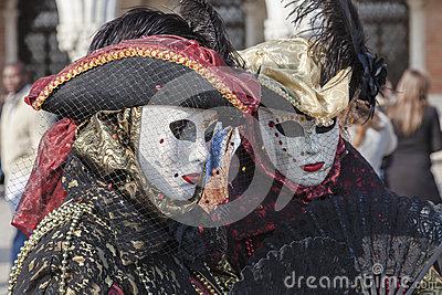 Venetian Disguises Editorial Photography