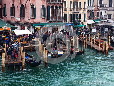Venetian Dock Editorial Stock Photo