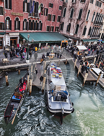 Venetian Dock Editorial Image