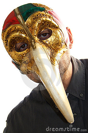 Venetian doctor mask bird beak