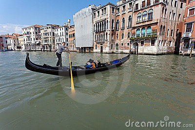 Venetian gondola Editorial Stock Image