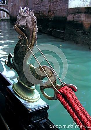 Venetian gondola, detail
