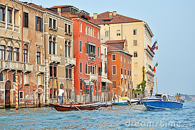 Venetian Grand Channel Editorial Stock Image
