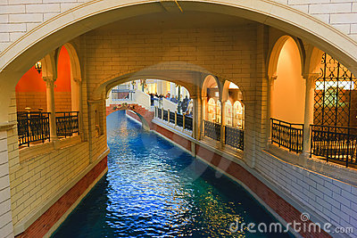 Venetian Hotel Canal Editorial Photo