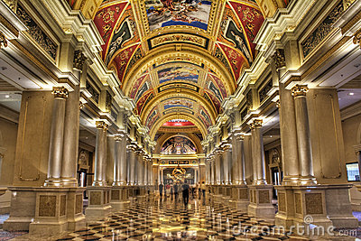 The Venetian Hotel s Colonnade Editorial Image