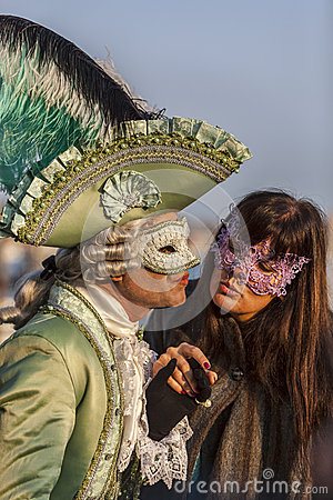 Venetian Kiss Editorial Photography
