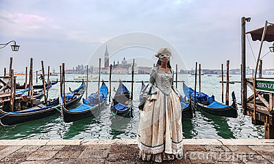 Venetian Lady Editorial Photo