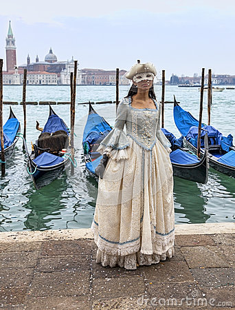 Venetian Lady Editorial Stock Photo
