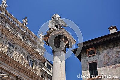 The Venetian Lion in Verona, Italy