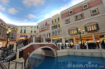 The Venetian Macao interior Editorial Photo