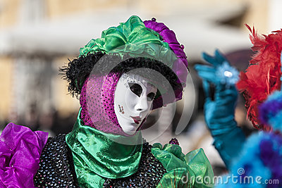 Venetian Mask Editorial Image
