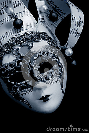 Venetian Mask over black
