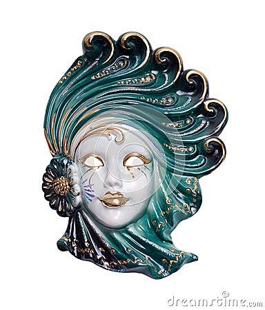 Venetian mask porcelain