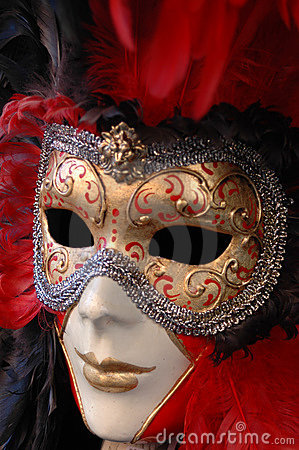 Free Venetian Mask Red Stock Image - 3999471