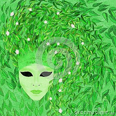 Venetian mask - spring