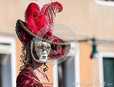 Venetian maskering Redaktionell Bild