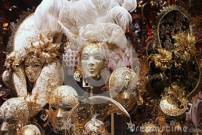 Venetian masks Editorial Stock Photo