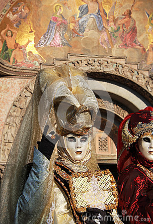 Venetian masks and San Marco church paintings