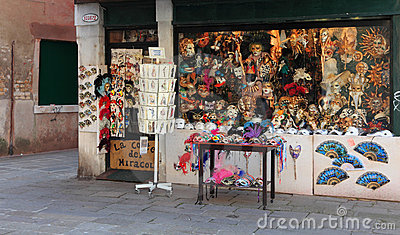 Venetian masks shop Editorial Image