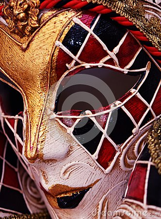 Free Venetian Masquerade Mask Harlequin Design In Papier Mache Royalty Free Stock Photos - 117891788